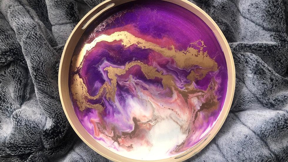 Tray - Purple / Gold / White