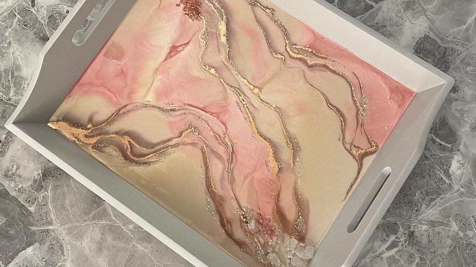 Tray - Rose Gold and Quartz