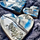 Thumbnail: Free Standing Hearts - Blue & Silver Marble