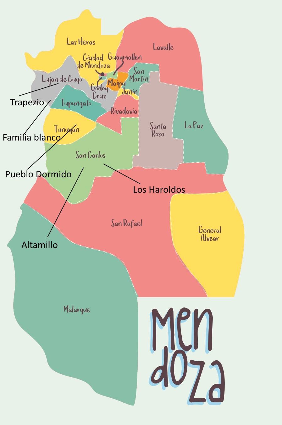 Mendoza Wine Map