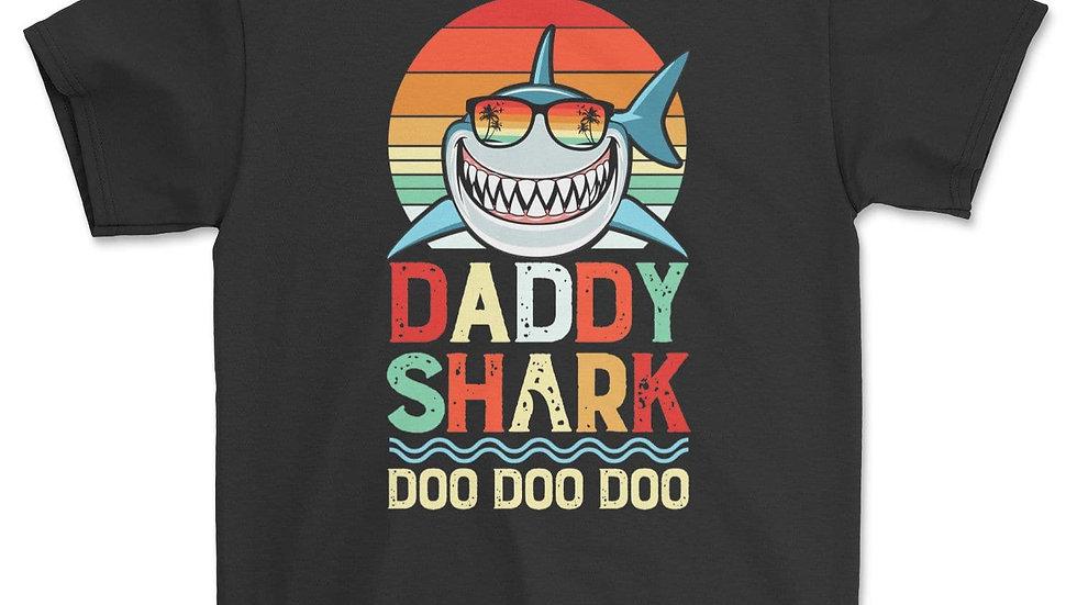 Daddy Shark Shirt Doo Doo Doo Vintage Retro T-Shirt Gift for Dad