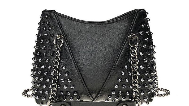 Rock Rivet Shoulder Bag Female Small
