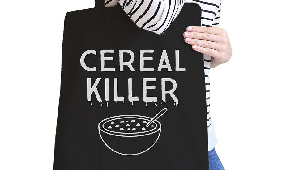 Cereal Killer Black Canvas Bags