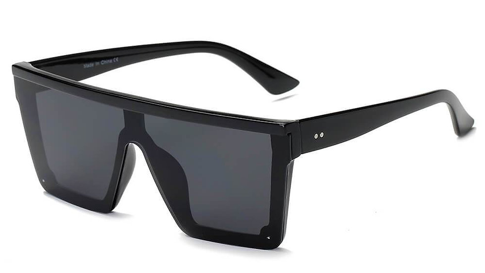 GUELPH | S2069 - Flat Top Square Oversize Fashion Sunglasses
