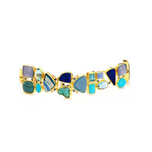 Blue Bracelets  in 18k Gold