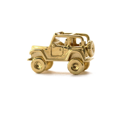 Jeep miniature as a charm or pendant.