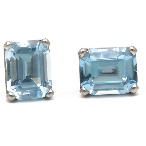 5.86 ctw Aquamarine Earrings  in Platinum.