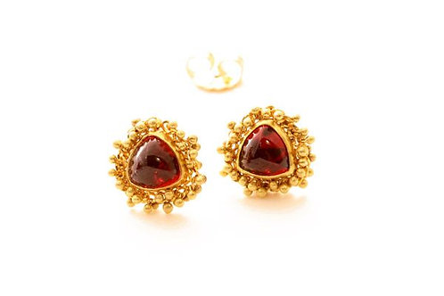 Garnet Caviar Earrings