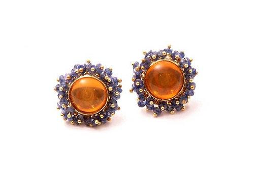 Citrine Tanzanite Earrings
