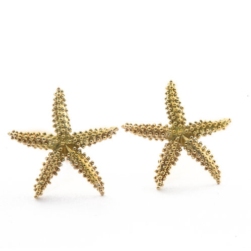 Seastar Earrings in 18k Gold.