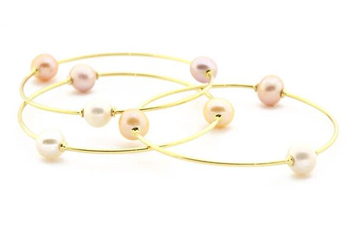 Triple Pearl Bangles