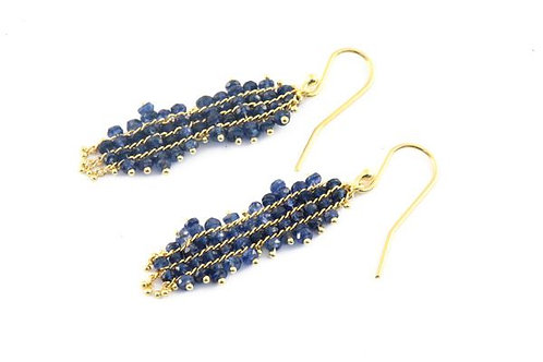 Sapphire Magic Carpet Earrings