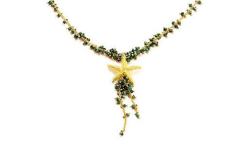 Blue Diamond Seastar Necklace