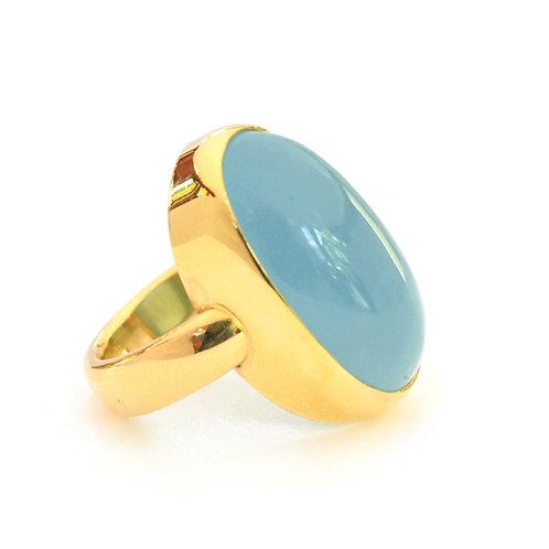 Aquamarine set on Elemental ring