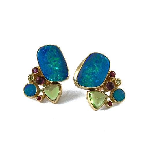 Boulder Opal Splits and Yellow Diamonds