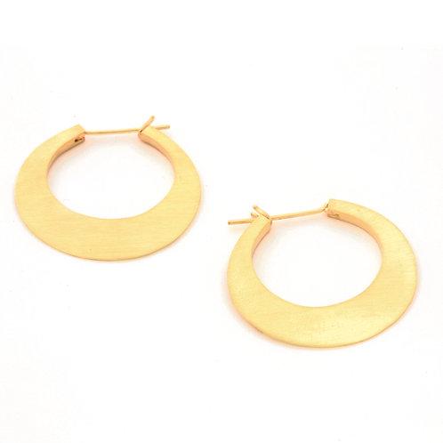 Hammered Hoop Earrings in 18k Gold