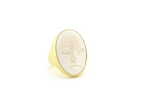 Bone Face Ring
