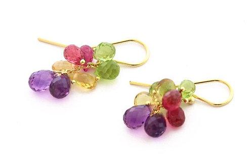 Multicolor Briolette Earrings
