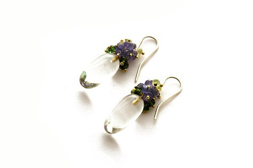 Hydrangea Rock Crystal Earrings