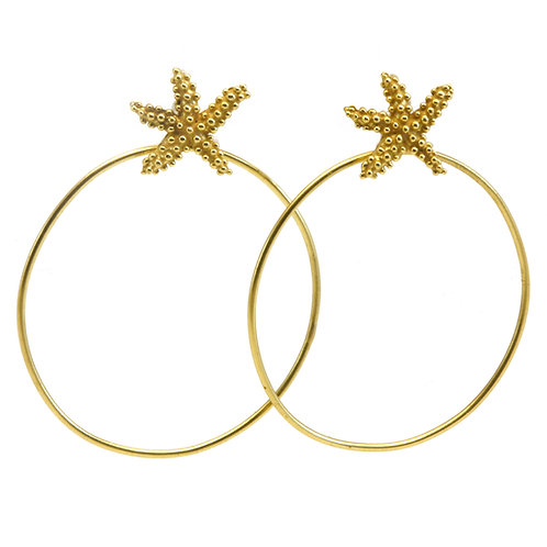 18k Seastars with 18k Hoops