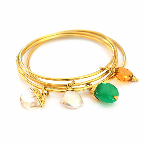 Gemstone Charms available on  Simple Bangles