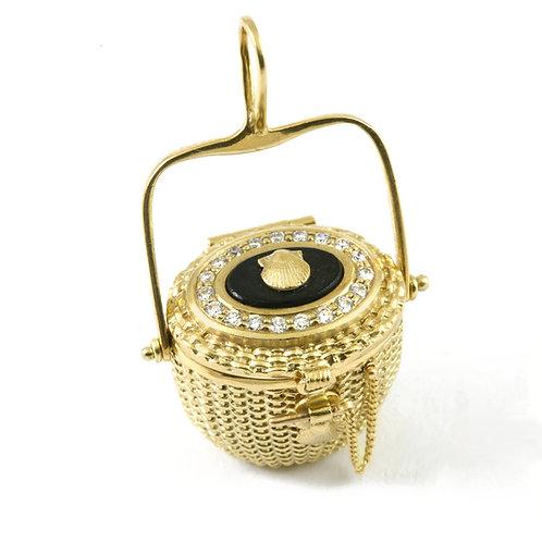 Diamond Basket Locket