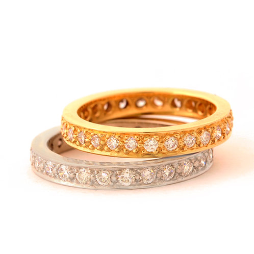 Eternity Rings in 14k Gold, 18k Gold and Platinum