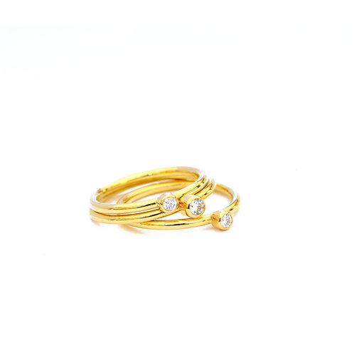 Diamond Stacking RIngs in 18k Gold