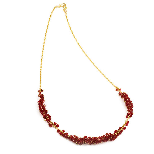 Ruby and Spinel Clusters on an 18k Chain.