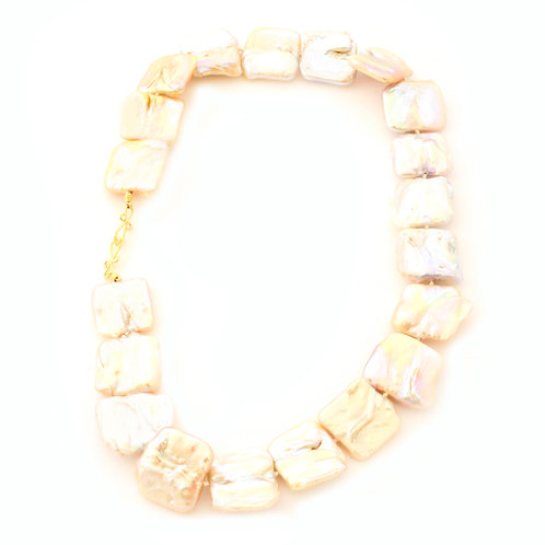 3/4 inch Freshwater Pearl Necklace with 18k Gold Clasp.