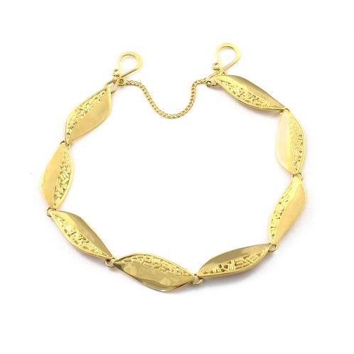 Leaf Bracelet in 18k Gold.