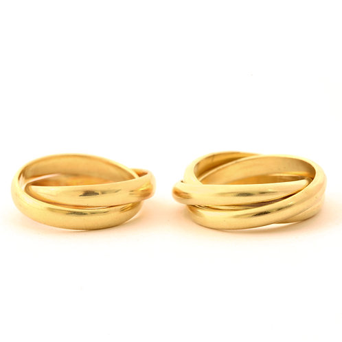 Rolling Rings in 14k Gold, 18k Gold and Platinum