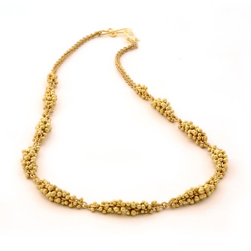 Caviar Necklace in 18k Gold