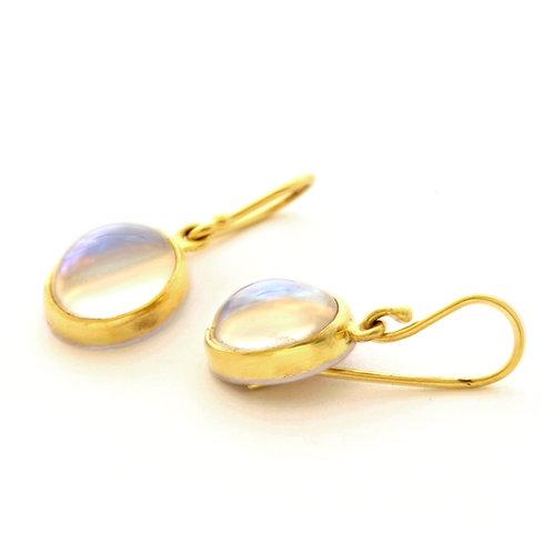 Moonstone Earrings in 18k Gold