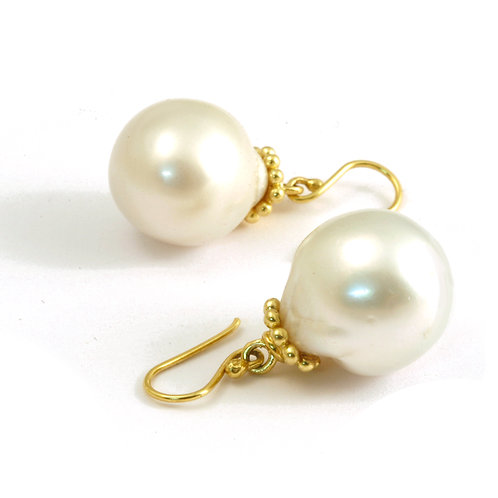 Baroque Pearls with Decorative Caps