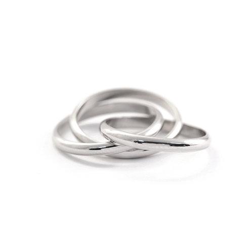 Rolling Rings in Platinum