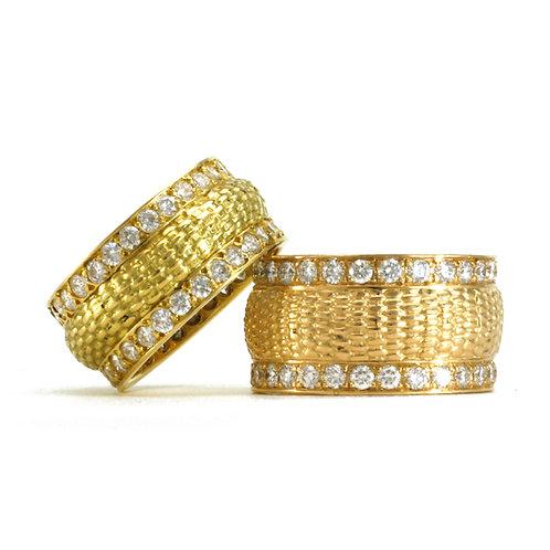 Diamond Basket Weave Rings