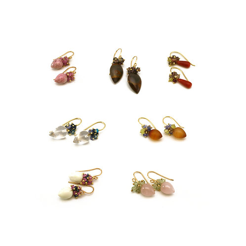 Assorted Bead Drop Earrings