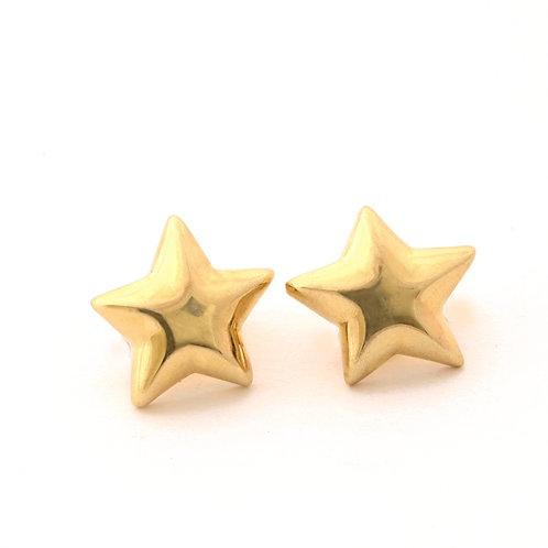 18k Star Earrings