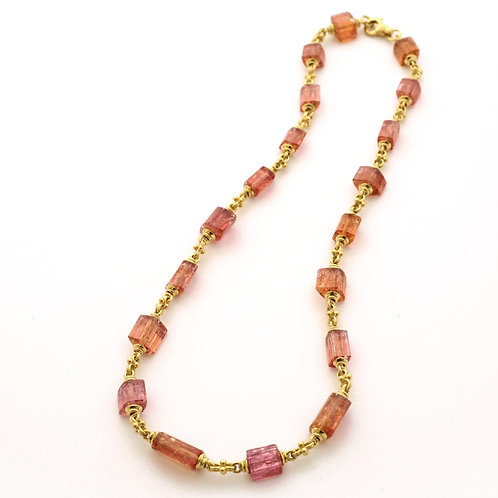 18K Gold Bead Caps with Precious Topaz Beads.