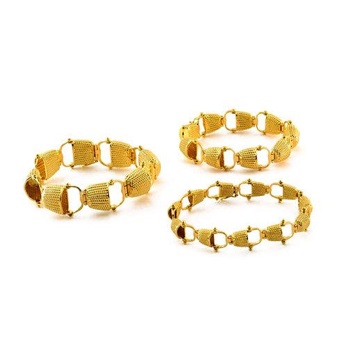 Nantucket Lightship Half Basket Bracelets in 14k and 18k Gold