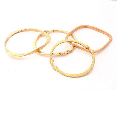 Bangle Bracelets in 14k , 18k,Gold Rose Gold and Silver