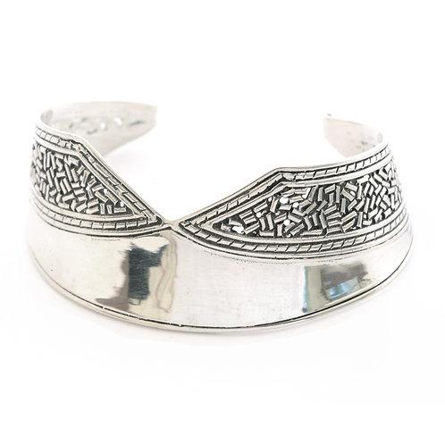 Celtic Cuff Bracelet in Sterling Silver.