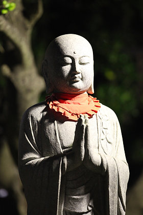 Small Statue at Chugo Temple, Enoshima Japan