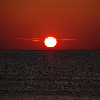 Red Sunset, Saint Augustine, Florida
