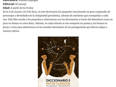 'Diccionario de mitos clásicos' entre los 10 libros recomendados por el Magazine ALTA FIDELI