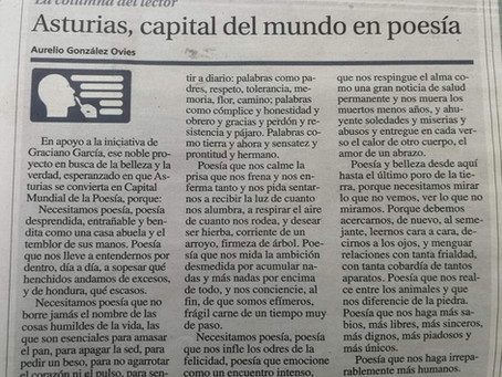 Asturias, capital del mundo en poesía