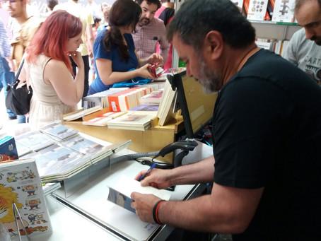 Aurelio González Ovies firma 'Vengo del norte' en la Feria del Libro de Madrid 2018