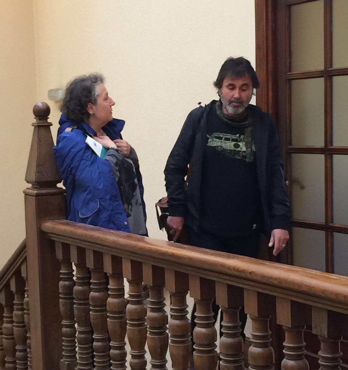 Con la escritora Dorita García Blanco