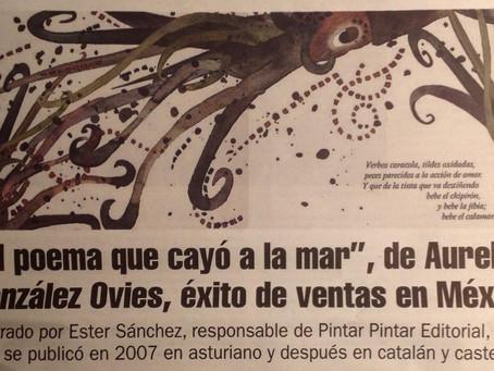 """""""El poema que cayó a la mar"""" éxito de ventas en México"""